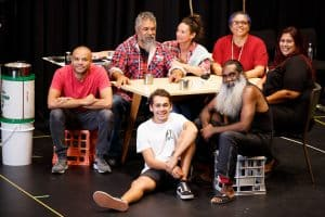 The cast of Nathan Maynard's play The Season