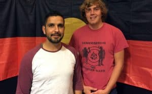 FGounding members of Anaiwan Language Revival Program, Bradley Widders (left) & Callum Clayton-Dixon (right). Photograph: Supplied