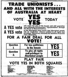 Poster for the 1967 Referendum. Inage: AIATSIS